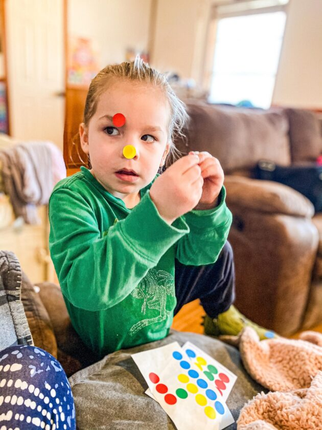Body Part Stickers Activity