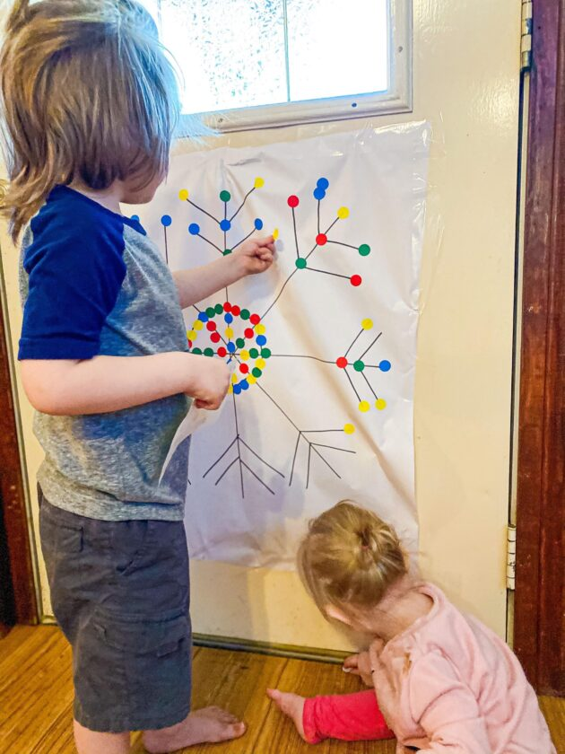 Dot Sticker Snowflake Fine Motor Activity for Toddlers