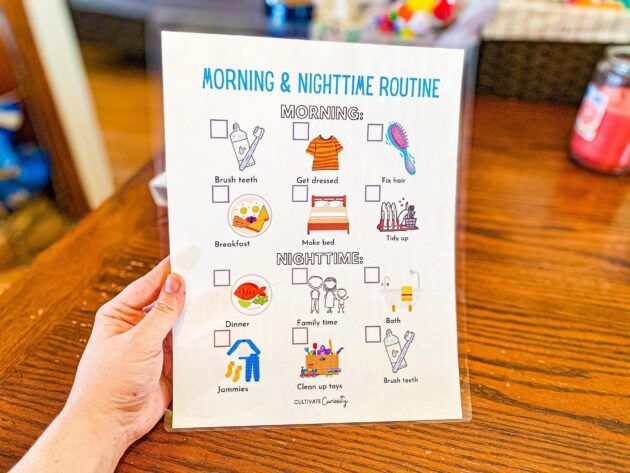 Morning and Nighttime Routine Chart