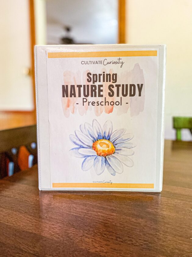Spring Nature Study with Flashcards and Spring Scavenger Hunt