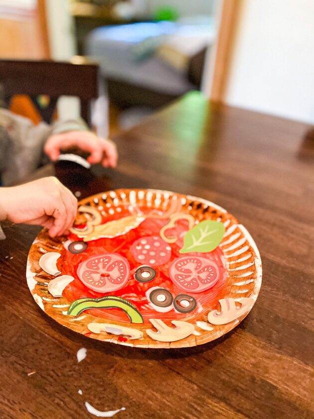 Paper Plate Pizza Craft