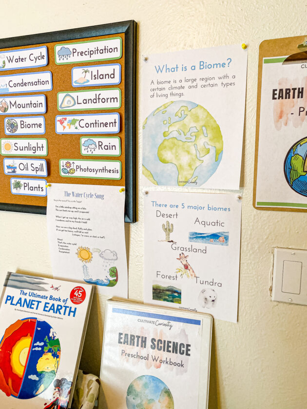 Earth Science Unit Wall