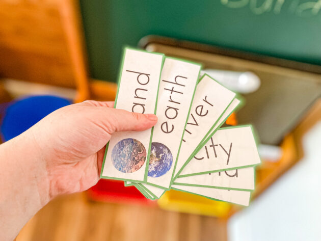 Earth Science Word Building with Magnets