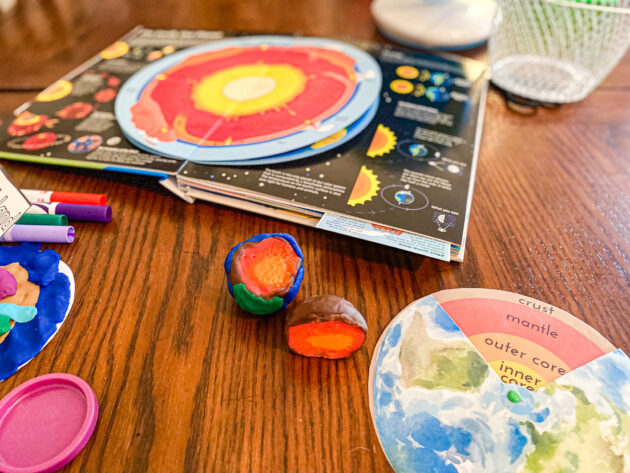 Layers of the Earth Playdough Model