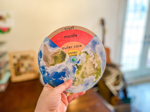 Layers of the Earth Printable Craft