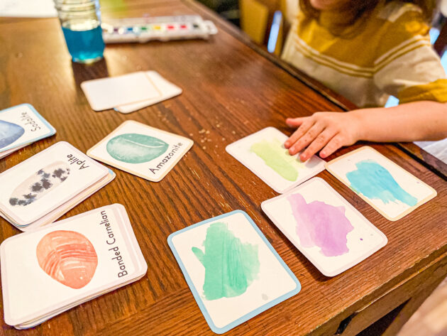 Painting your own Watercolor Gemstone Flashcards