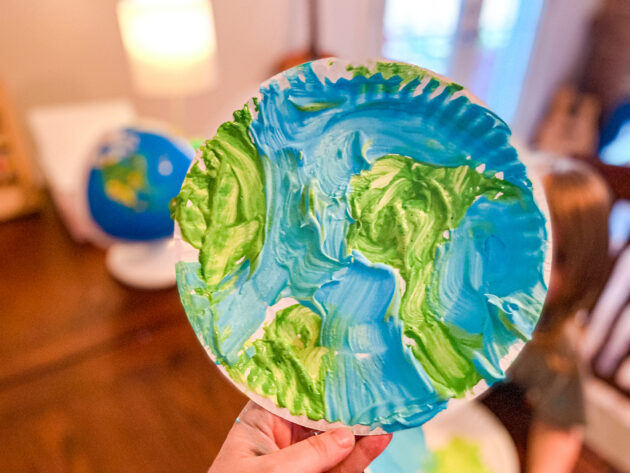 Puffy Paint Earth Craft