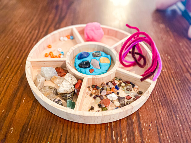 Rock and Playdough Invitation to Play